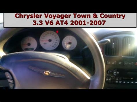 chrysler voyager 3 3 v6 deluxe youtube chrysler voyager town country 3 3 v6 ega obdii elm327 engine speed test rpm youtube
