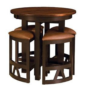 amish pub table chairs set bar height high dining stools modern solid wood  ebay
