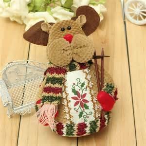 home decor santa christmas santa claus elk snowman flannel ornaments home