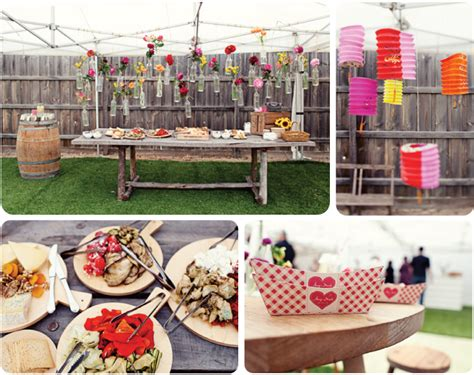 backyard bbq engagement party hello my dear blog pretty party bbq engagement