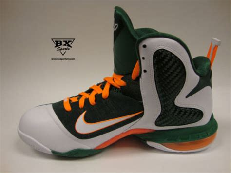 nike hurricane basketball shoes nike lebron 9 quot miami hurricanes quot new images