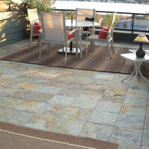 Patio Tile by Outdoor Slate Floor Tiles Patio Chicago
