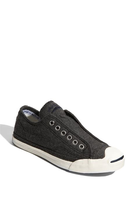 purcell slip on sneaker converse purcell wool sneakers in black grey lyst