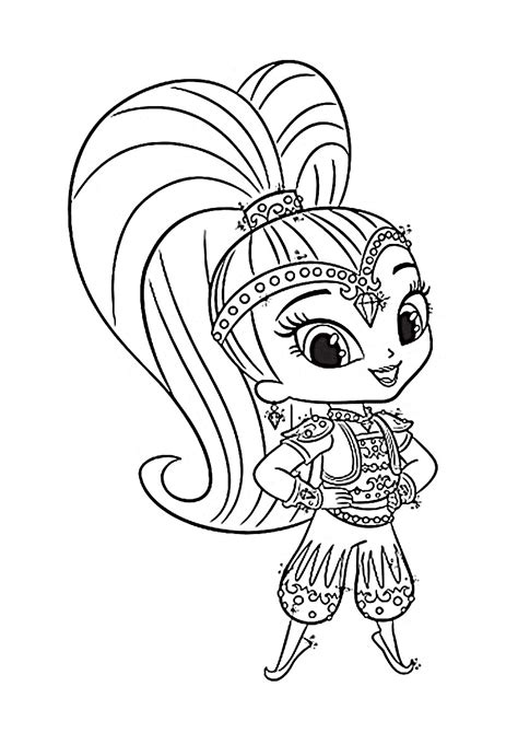 printable coloring pages shimmer and shine shimmer and shine coloring pages to download and print for
