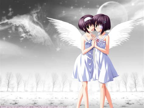 wallpaper anime twins ef a fairy tale of the two images twins angel hd