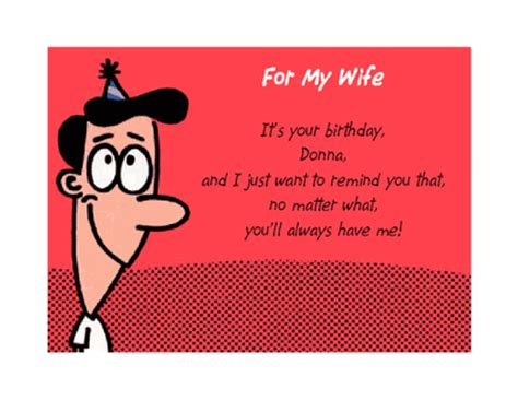 printable birthday cards for a wife you ll always have me greeting card happy birthday