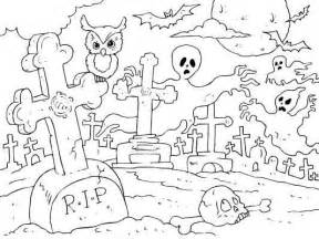 ghostly graveyard coloring spooky fun halloween color boo tiful