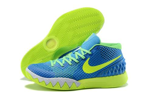 nike green and white basketball shoes cheap nike kyrie 1 2015 blue green white basketball shoes sale