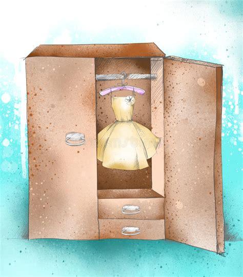l armadio passi l armadio dell illustrazione i vestiti guardaroba