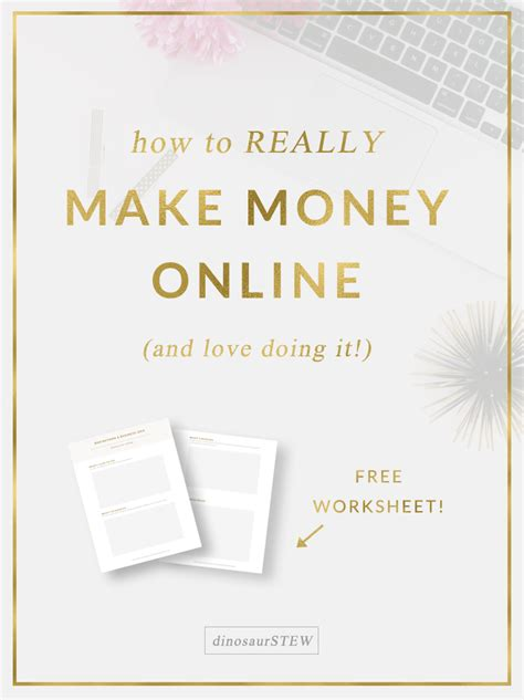 How To Make Money Immediately Online - dinosaur stew blog