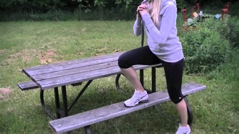 outdoor workout bench outdoor picnic bench workout 10 exercises youtube