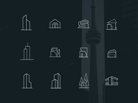 flyer format free minimal architecture icons psd psdblast