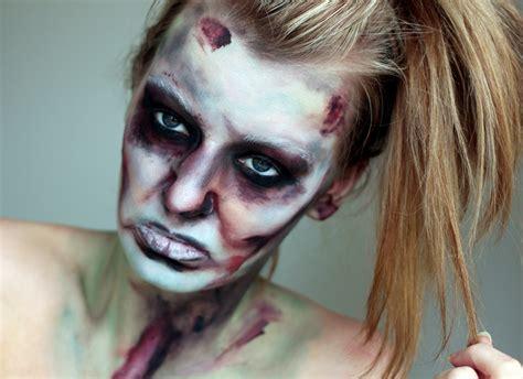 tutorial cara make up zombie the walking dead halloween make up a tutorial zoe newlove