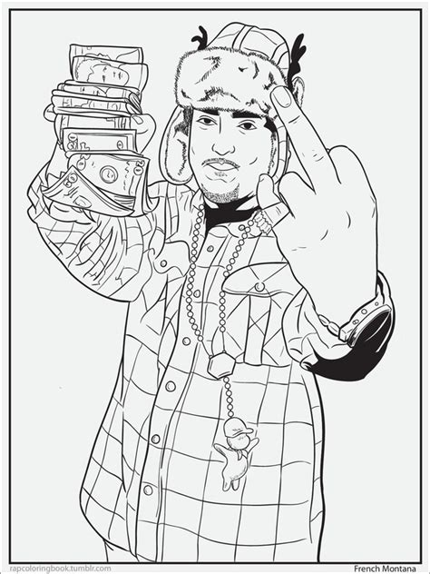 coloring book rapper 7 delightful pages from a rap coloring book
