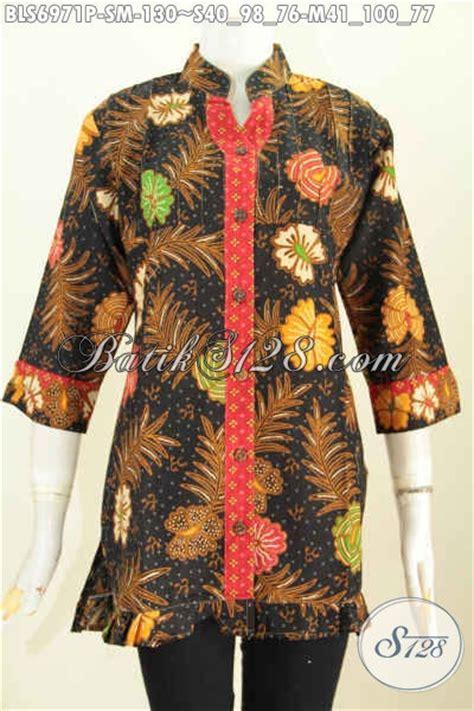 Baju Jumbo Xxxxl 34 Toko Busana Batik Wanita Sedia Blus Lengan 3 4