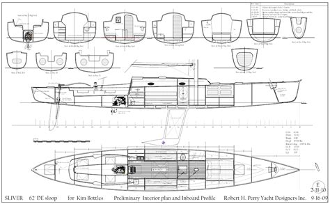 sailing yacht layout plans robert h perry yacht designers inc
