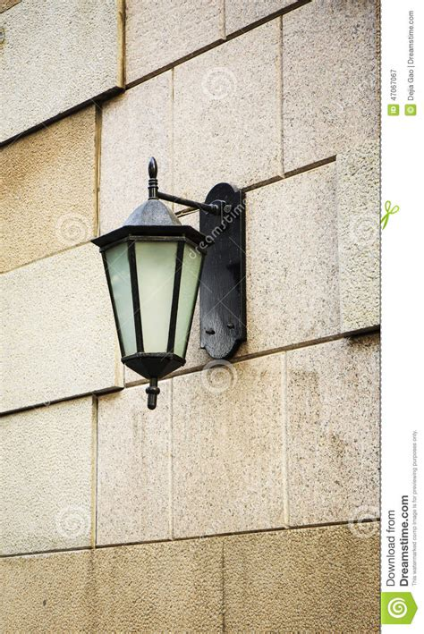 decorative wall sts outdoor light wall l lighting stock image image 47067067