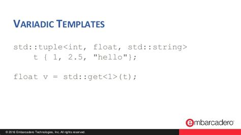 variadic templates useful c features you should be using