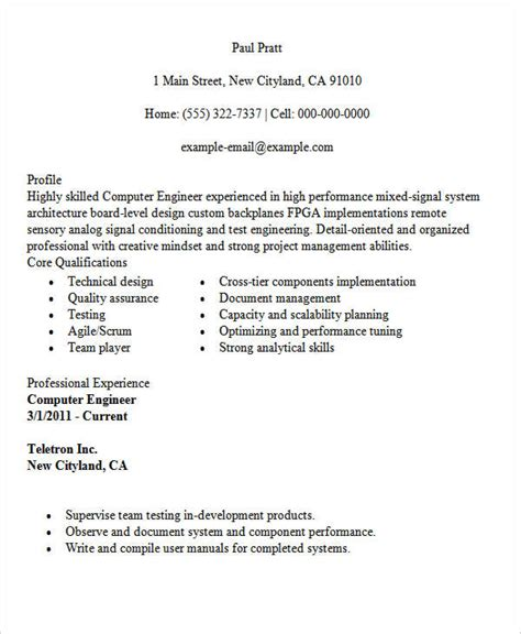 computer engineering resume resume ideas