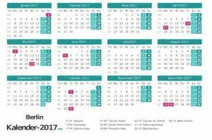 Kalender 2018 Nrw Arbeitstage Kalender 2017 Berlin