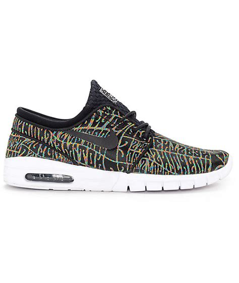 Nike Stefan Janoski Max Blackwhite Premium nike sb stefan janoski air max premium tripper black white multicolored shoes zumiez