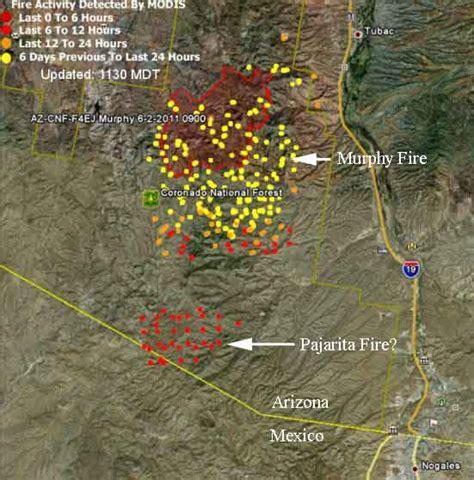 arizona wildfire map update on arizona fires june 6 2011 wildfire today