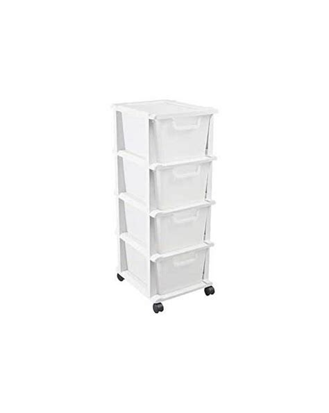 4 drawer plastic storage unit white keter 4 drawer plastic unit white fifty plus
