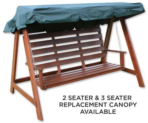 replacement canopy for swing chair woodside green 2 3 seater garden swing chair replacement