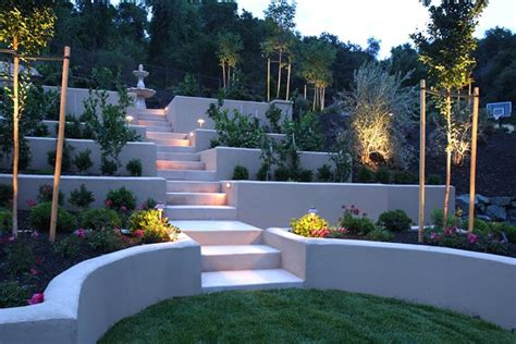 Terraced Backyard Landscaping Ideas by Hillside Landscaping Calimesa Ca Photo Gallery