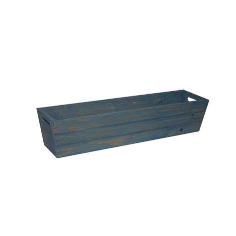 26 in wooden barrel planter hl6642 the home depot