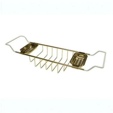 clawfoot bathtub caddy kingston brass claw foot bathtub caddy in polished brass hcc2152 the home depot