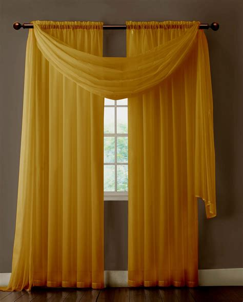 Gold Sheer Curtains Warm Home Designs Pair Of Caramel Gold Sheer Curtains Or Window Scarf Home Design