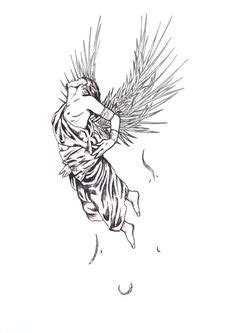 fallen angel tattoo naples flight of icarus origin when daedalus tried to escape the