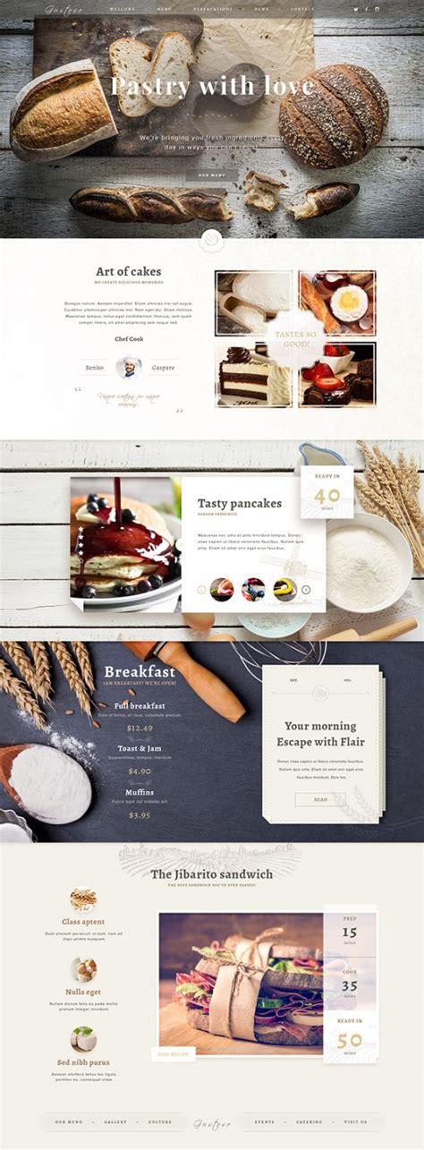 pinterest layout psd bakery psd website template freebiesbug