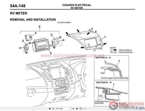 free download parts manuals 2012 mitsubishi lancer instrument cluster mitsubishi triton l200 workshop manual 2006 2013 auto repair manual forum heavy equipment