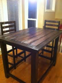 bar kitchen table diy rustic counter height table plan