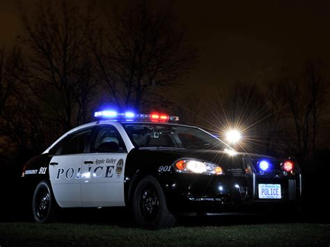 police lights at night apple valley mn photo gallery