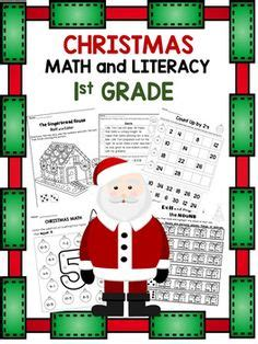 christmas math centers first grade 1000 images about grade holidays crafts on math hat template and