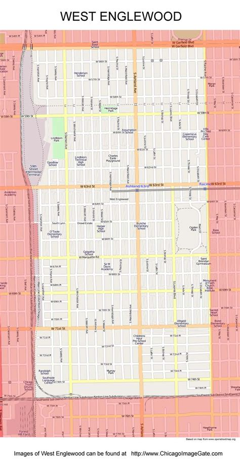 englewood chicago map chicago community area maps