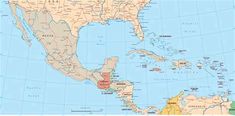 middle america map physical map of central america and the caribbean middle east map