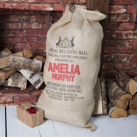 christmas hessian sack royal crest gettingpersonal co uk