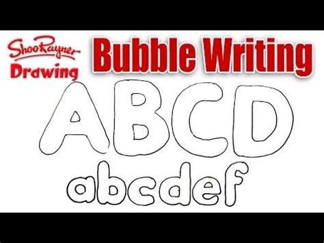 draw bubble writing shoo rayner author