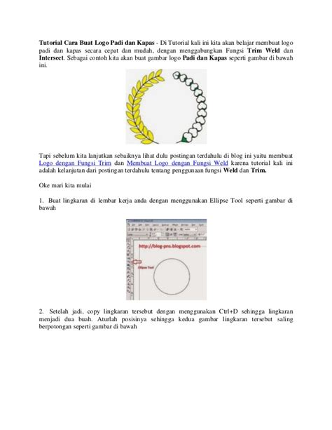 tutorial membuat logo tutorial cara buat logo padi dan kapas