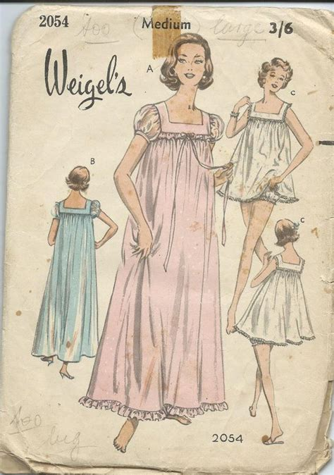 Vintage Apparel 9 Tshirtkaosraglananak Oceanseven 1960s vintage nightgown pattern by weigels by aplethoraofpatterns 12 00 olaquilts