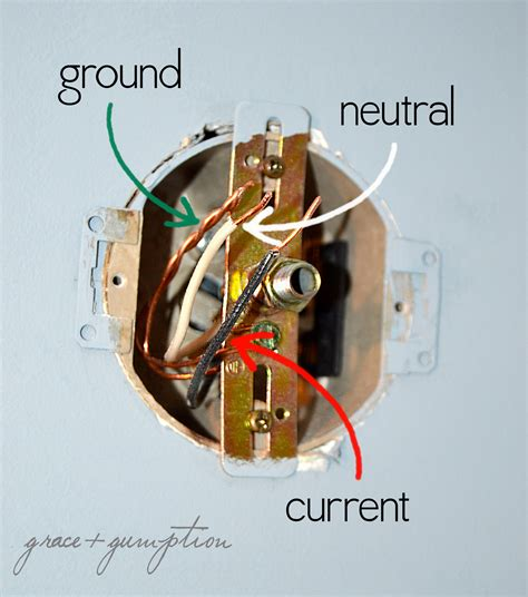 Wiring A Light Fixture How To Replace A Light Fixture Grace Gumption