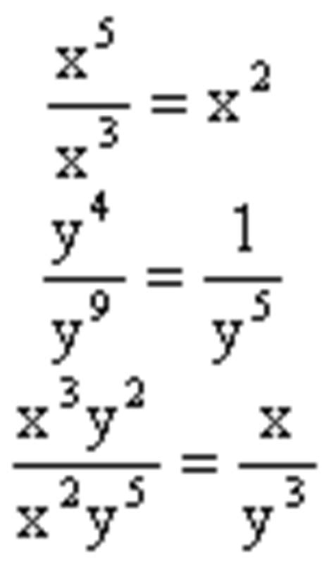 A Review of the Rules for Exponents