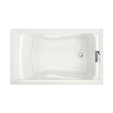 what is a reversible drain bathtub american standard evolution 5 ft reversible drain deep soaking tub in arctic 2771v002