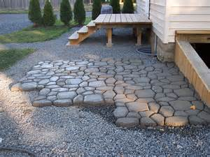 How To Make A Patio by Diy Concrete Cobblestone Patio Diy Barrel Stove