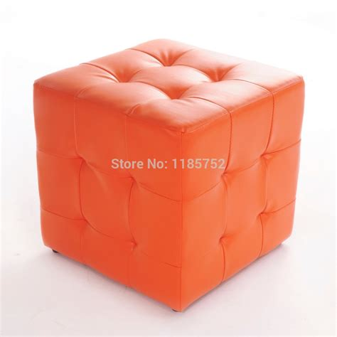 couch footrest brand new pure orange high quality square ottoman stool