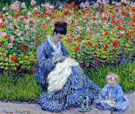 Monet In The Garden by Camille Monet And A Child In The Artist S Garden In